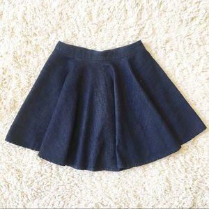 Zara Denim Circle Mini Skirt XS